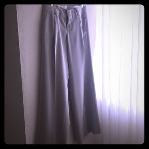 Alice and Olivia pewter silk pants size 6